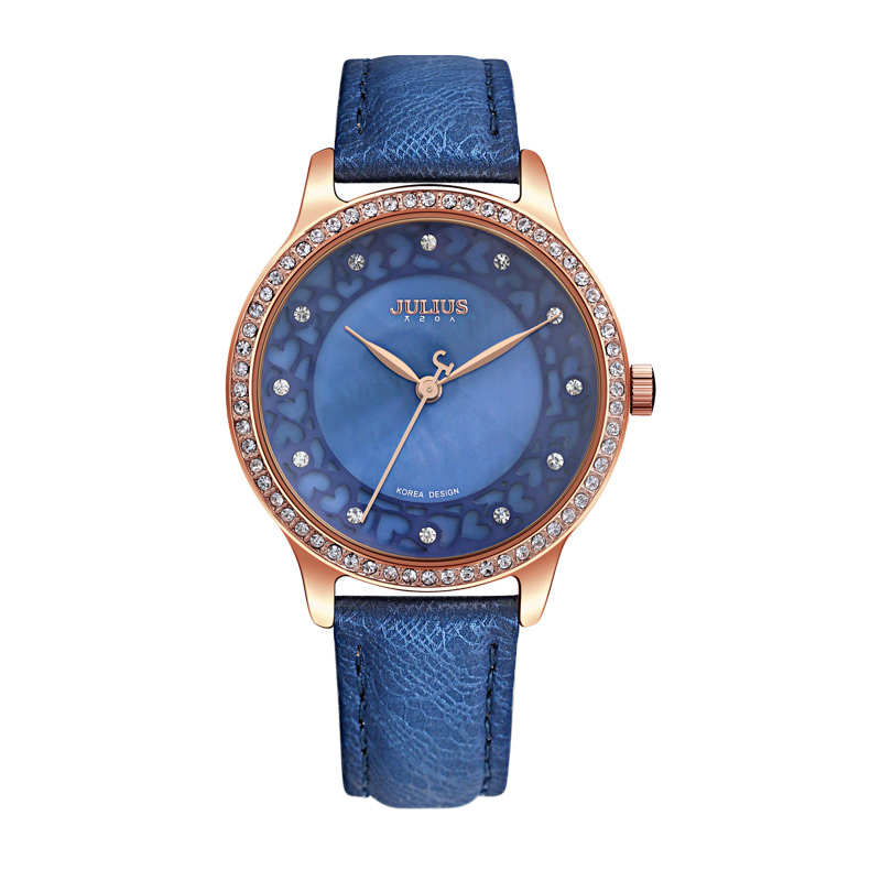 Julius Fashion Women Ladies Watch Stainless Geneva Rose Luxury Designer Women Watches Stylish Classic Casual Wristwatches JA-852