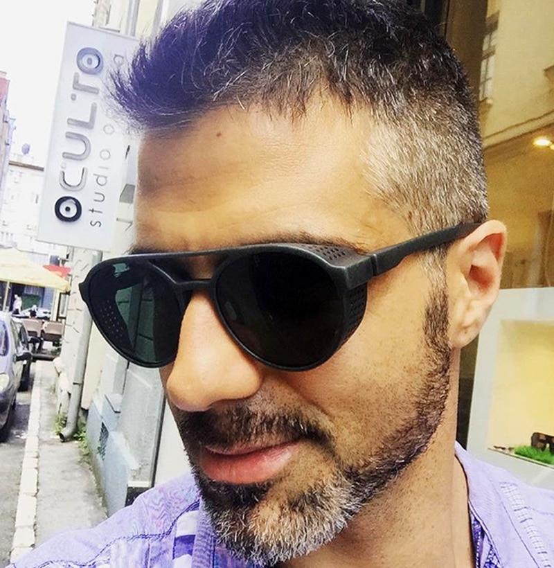 JackJad New Fashion Round Frame SteamPunk Style Side Mesh Sunglasses Men Brand Design Vintage Sun Glasses Oculos De Sol 97373
