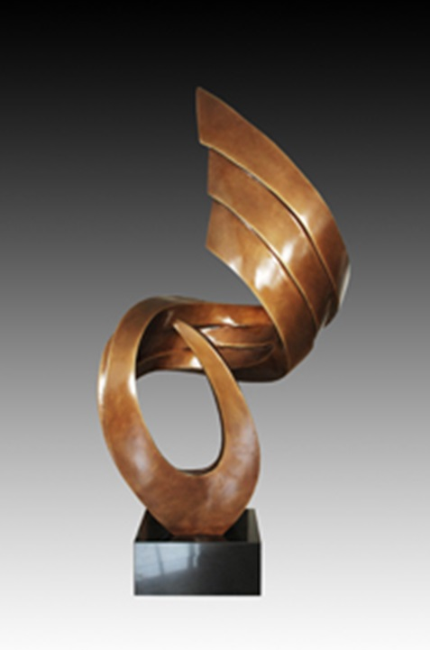Europe style abstract Bronze statue wave sculpture outdoor garden park Decoration