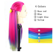 Yaki Synthetic Hair Professional Mannequin Head Hairdressing Dolls Female Quality Styling Edit Training