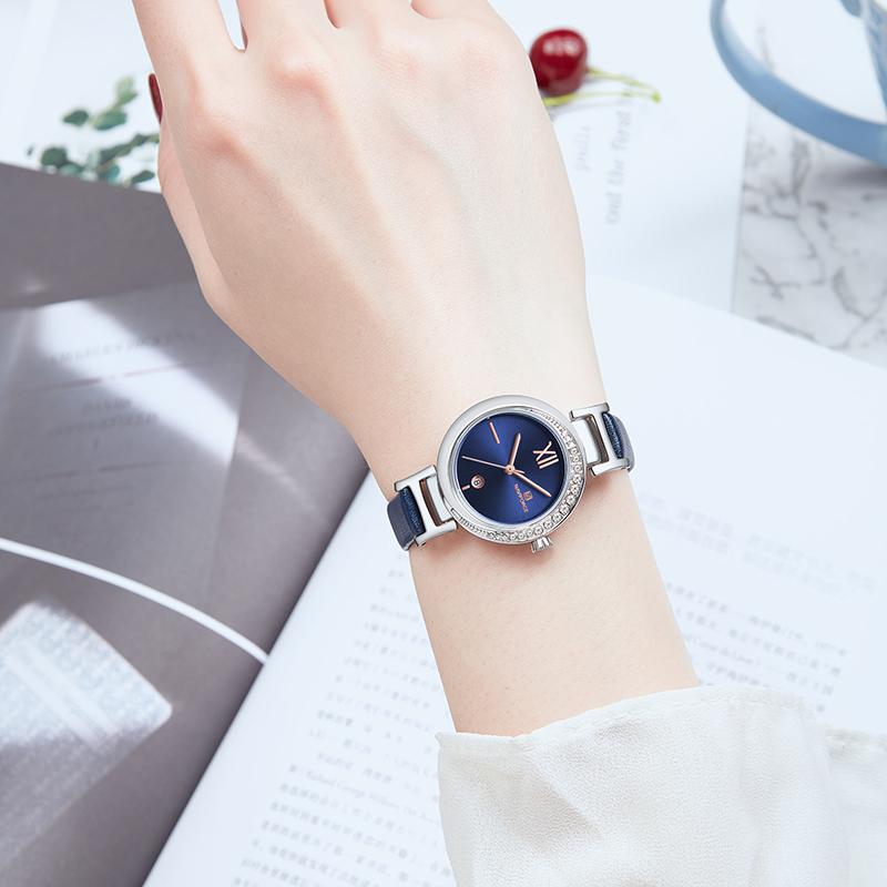 NAVIFORCE  Women Watch Top Brand Fashion Luxury Quartz Ladies Watches Girl Dress Date Clock Leather Montre Femme Reloj Mujer 4