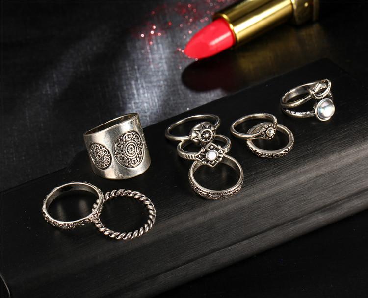HTB1b5bUPXXXXXbXaXXXq6xXFXXXI 9-Pieces Antique Style Turkish Knuckle Ring Set For Women - 2 Colors
