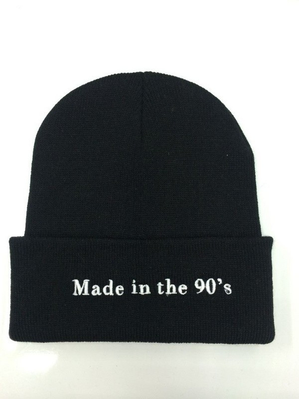23aca92b Solid Color Beanie For Girls Letter Embroidery Winter Knitted Hat Female  Casual Hip Hop Black Cap