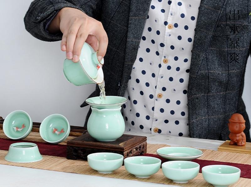 Celadon Gaiwan Gong Fu Tea Bowl 1