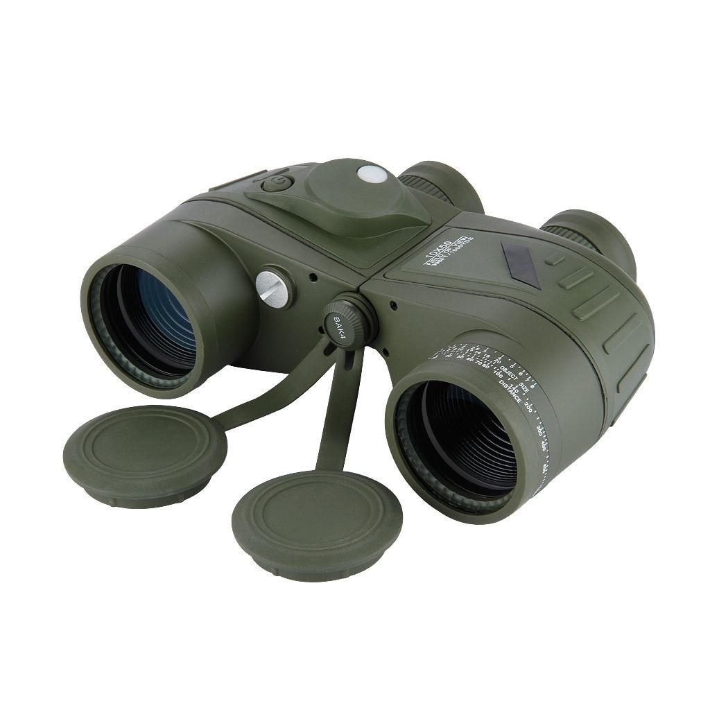 New Sale BOSTRON Waterproof 10x50 Marine Hunting Outdoor Binoculars Built in Rangefinder Compass