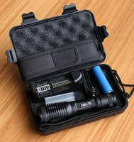 E006 CREE XM L T6 3800Lumens CREE LED Torch Zoomable LED Flashlight Torch Light For 3xAAA