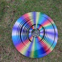 12 дюймов ветра счетчик более красочным С Стекло мяч(5 см) из 1 мм защелкой из нержавеющей стали для стальной лист с высоким качеством