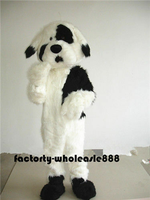Long Fur Dog Mascot Costume Suits Cosplay Party Game Dress Outfits Clothing Advertising Carnival Halloween Xmas Easter Adults