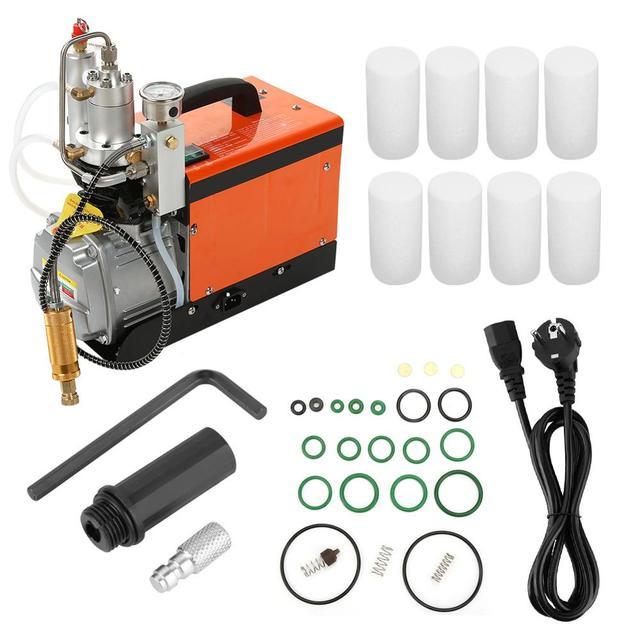 Hochdruck Luftpumpe Elektrische Kompressor 30MPa Gestärkt Öl Wasser Filter Luftpumpe Set Hohe Qualität