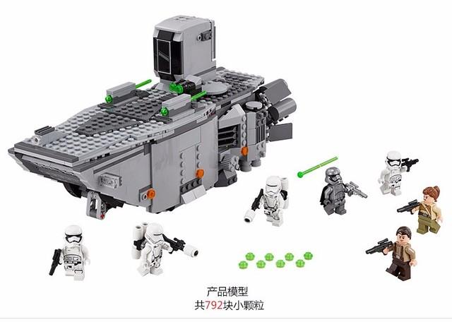 Ventas de la fábrica LEPIN Star Wars de Primer Orden Transporter Juguetes Figuras building blocks set marvel compatible con legoe