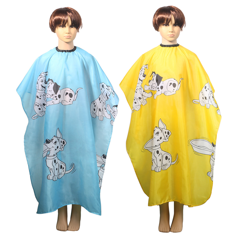 High Quality Hairdresser Cartoon Child Hair Cut Cloth Cape Waterproof Bib Apron Dressing Salon Gown Soft Polyester Tool Beauty & Health