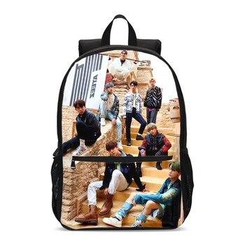 цена на Ateez Print School Backbacks For Teenager Girls Shoulder Bags Large Children School Bag Students Backpack Mochila Casual Daypack
