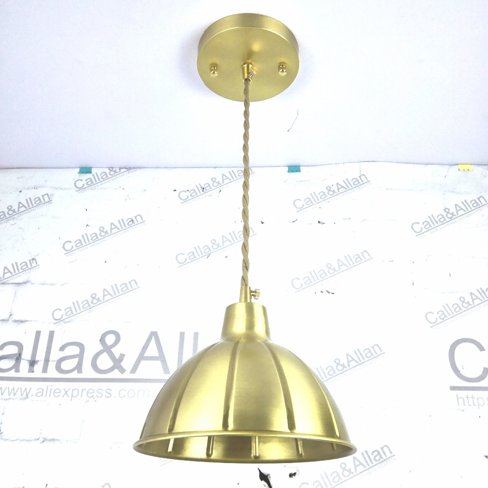D180mm brass bell copper cone lampshade fabric wire pendant lamp d180mm brass bell copper cone lampshade fabric wire pendant lamp fixture brass lighting for cafe restaurant ceiling room led in pendant lights from lights greentooth Image collections