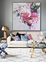 100% Hand Painted Abstract Colorful Flower Oil Painting On Canvas Handmade Wall Art Impressionist Landscape Decorative Picture