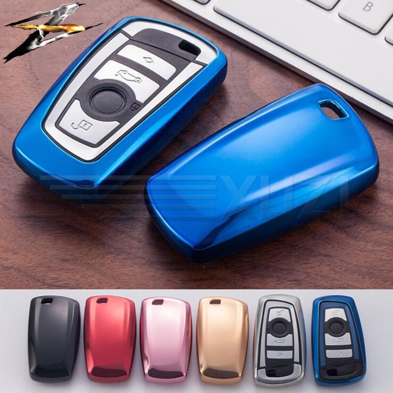 6 colors TPU Keyless Remote Car Key Case Cover For BMW F20 F30 X1 X3 X5 X6 X7 E90 E30 E34 E36 Holder Styling