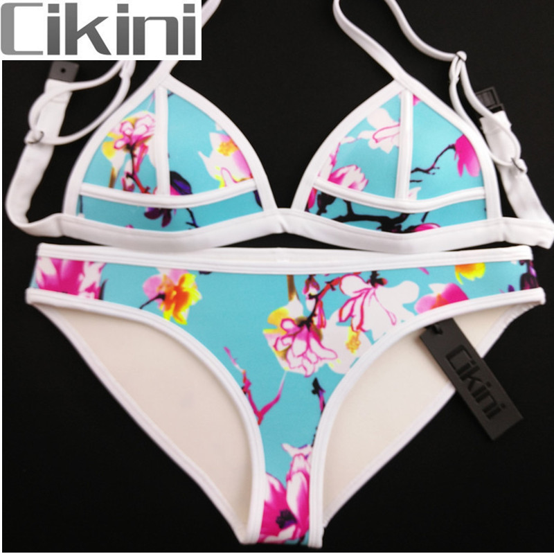 Neoprene Swimwear Women Bikini Woman New Summer 2018 Sexy Swimsuit Bath Suit Bikini set Bathsuit SC011 Cikini neoprene swimwear women bikini woman new summer 2017 sexy swimsuit bath suit push up bikini set bathsuit ta008y