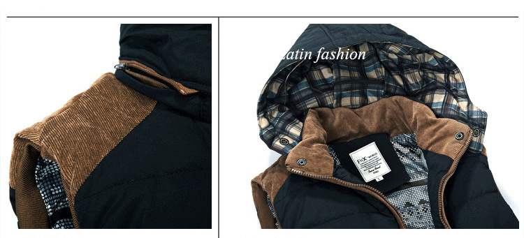 Free Shipping Mens Fishing Sleeveless Jacket Denim Outdoor Casual Casual Multi-pocket r Clothing Waistcoat Brand Winter Men VestE11662-14