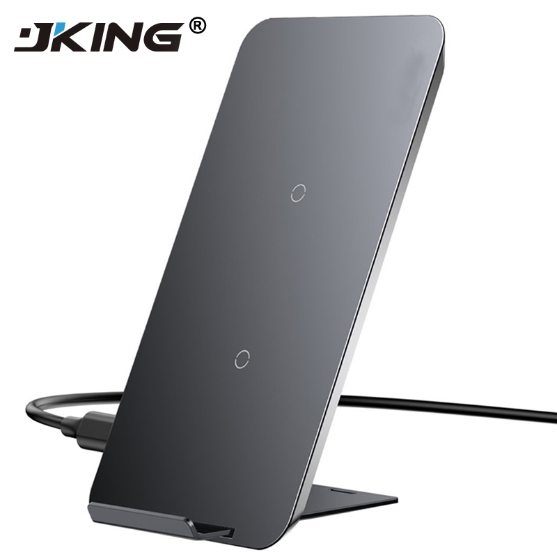 JKING Qi Wireless Charger For iPhone X 8 Samsung Note 8 S8 Plus S7 S6 Edge Phone Fast Wireless Charging Docking Dock Station