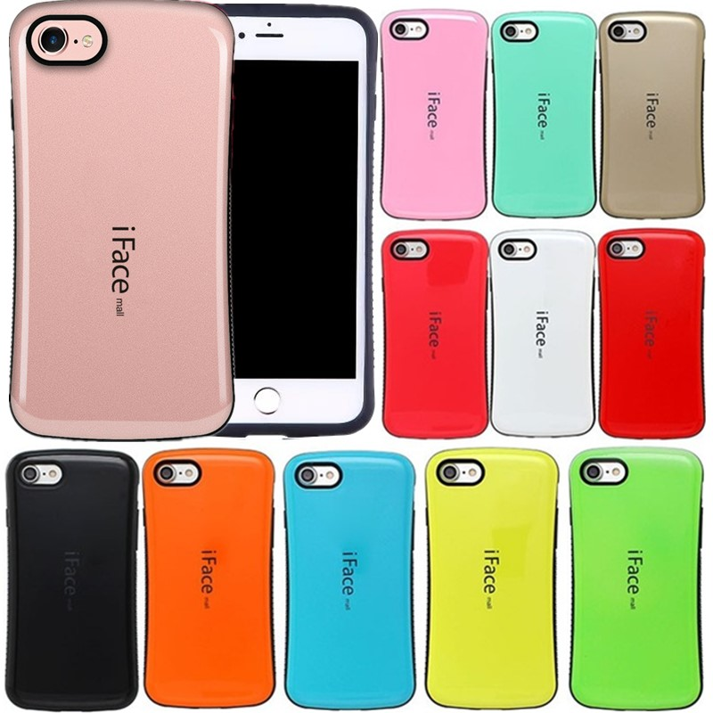 iFace mall Bicolor wave silicon case For iphone 7 8 6 5s 5 se back shell protector cell phone skin For iphone 6s 6 7 plus X ...