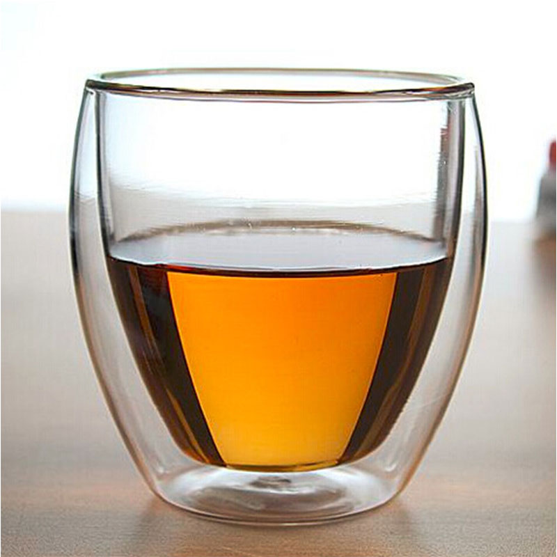 1PC Double Wall Tea Glass <font><b>Cup</b></font> Beer <font><b>Coffee</b></font> <font><b>Cup</b></font> <font><b>Set</b></font> Handmade Creative Healthy Drink Mug Transparent Drinkware DA image