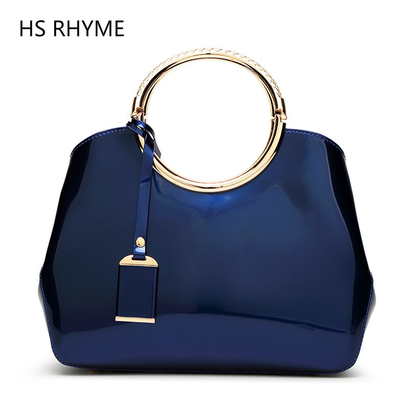 HS RHYME Wax Oiled PU  Composite  Bag Handbags Women Messenger Bags Female Purse Solid Shoulder Bags Office Lady Casual Tote jooz brand luxury belts solid pu leather women handbag 3 pcs composite bags set female shoulder crossbody bag lady purse clutch