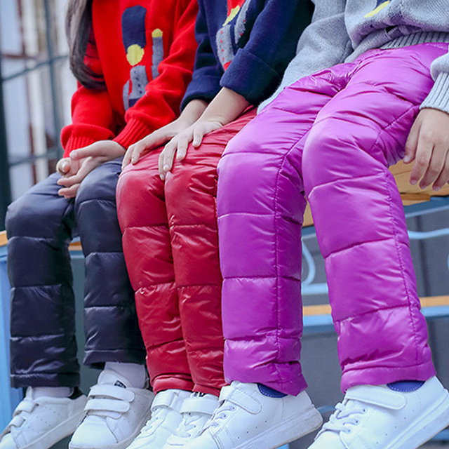 2e215fd17583d girls pants boys children pants girls winter children clothes down kids  baby leggings girl Autumn kids