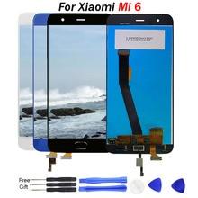 купить For XIAOMI Mi 6 LCD Display Touch Screen Replacement With Fingerprint Sensor Original Display For Xiaomi Mi6 Display Repair Part дешево