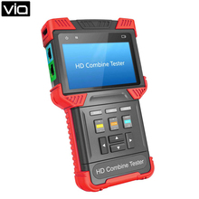 T-T62-AHD Free Shipping CCTV AHD + Analog Camera 4.0-inch Handheld HD Combine Tester