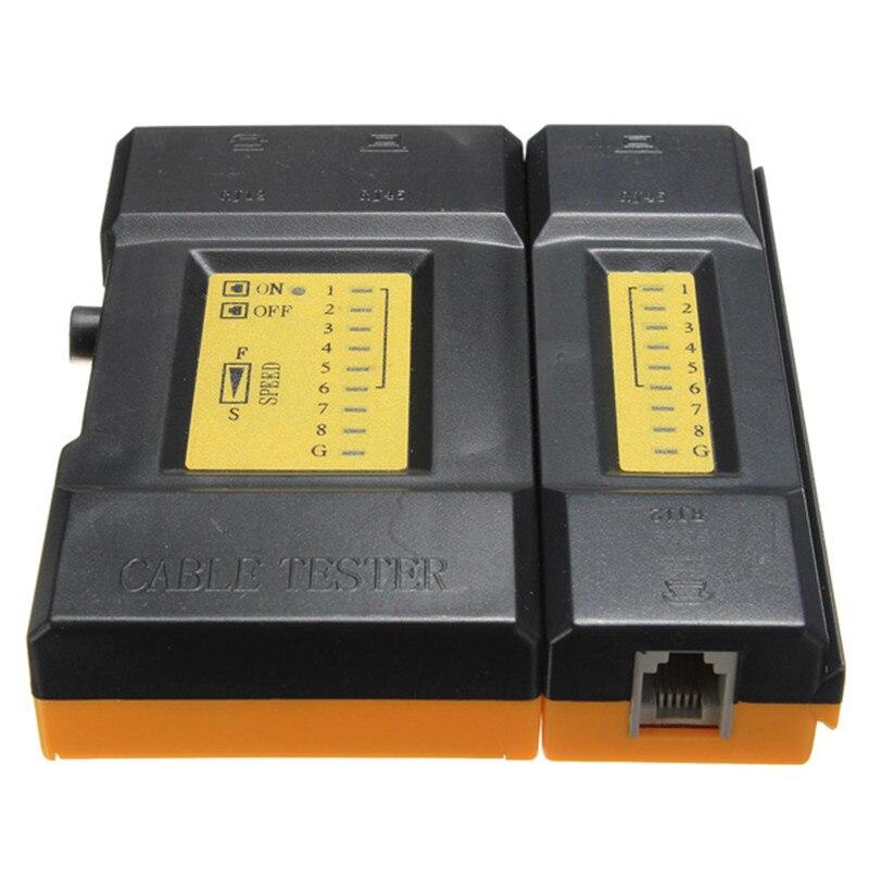 Портативный вычислить сетевой кабель тестер RJ45 + RJ11 LAN Провода Ethernet 468vr ручной Высокое качество