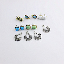 The new popular selling Bohemian girl's birthday party is dismountable earrings wholesale women to restore ancient ways stud ear