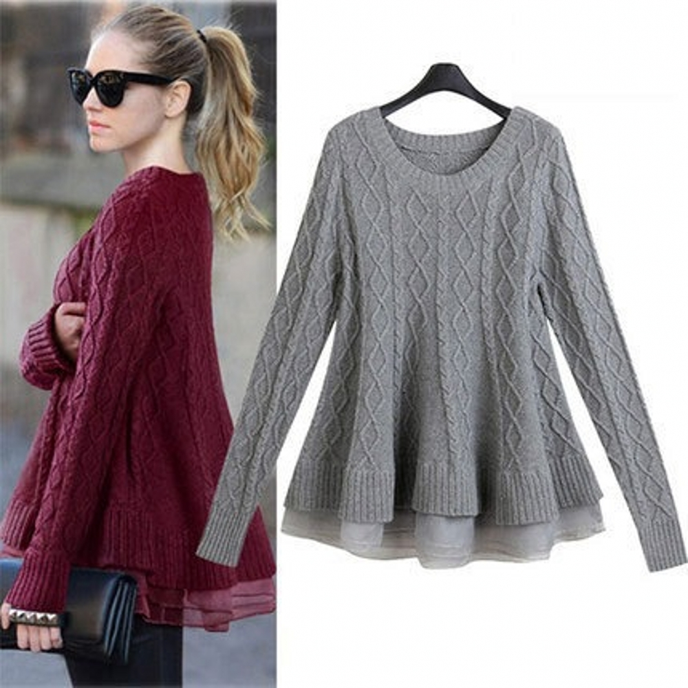 New Arrival Women\'s Twist Sweater Dress Autumn Win...