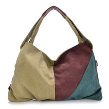 High Quality Female Handbags Women Canvas Shoulder Bag Ladies Canvas Tote Crossbody Bag Women's Big Shopping Messenger Bags