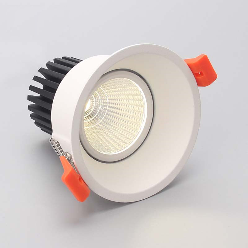 LED downlight 12w COB Ultrabright led spot light for living room Black Embedded ceiling lamp round light Anti-glare AC85-265V free shipping led european style ceiling light 10w 220v anti glare led meeting room offices hotels homelighting