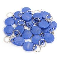 100pcs Blue RFID 125 khz EM4100 Key Tag Keyfobs Ring Chip Keytab TK4100 Tags 125khz Read Only ID cards
