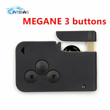 Good quality!!!!New for RENAULT MEGANE SCENIC II CLIO ETC RF TYPE 3 BUTTON REMOTE ALARM KEY FOB CARD