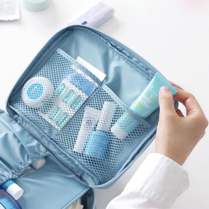 HTB1b5eFl22H8KJjy0Fcq6yDlFXaU - Fashion Travel Nylon beauty makeup bags water-proof cosmetics bags