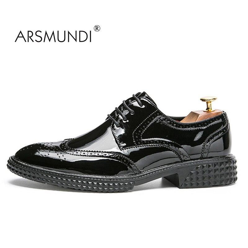 ARSMUNDI Original Men Casual Shoes Fall 2017 Black Fashion Shoes Breathable Waterproof PU Lace Up Mens Casual Shoes XRS1H-86113 casual fall style black long sleeve lace up sweatshirt