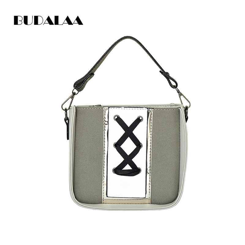 Budalaa Women Handbag Shoulder Bags Tote Female Style Flap Bags Zipper High Quality Bag Gift for Fashion Women and Girls aosbos fashion portable insulated canvas lunch bag thermal food picnic lunch bags for women kids men cooler lunch box bag tote