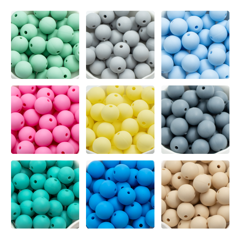 Image 2 - 300Pc 12mm Round Silicone Beads Baby Teething Bead Perle Silicone Dentition Food Grade Siliconen Kralen Mordedor Baby Products-in Baby Teethers from Mother & Kids
