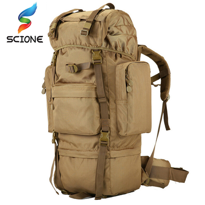 70 L large Backpack Outdoor Sports Bag 3P Military Tactical Bags For Hiking Camping Climbing Waterproof Wear-resisting Nylon Bag nylon 800d mobile phone waterproof wear belt outdoor sports purse bag army tactical camouflage bags