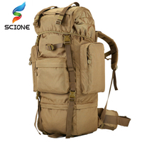 70 L large Backpack Outdoor Sports Bag 3P Military Tactical Bags For Hiking Camping Climbing Waterproof Wear resisting Nylon Bag