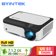 BYINTEK M1080 Smart (2GB+16GB) Android WIFI FULL HD 1080P Portable LED Mini Projector 1920×1080 LCD Video For Iphone SmartPhone