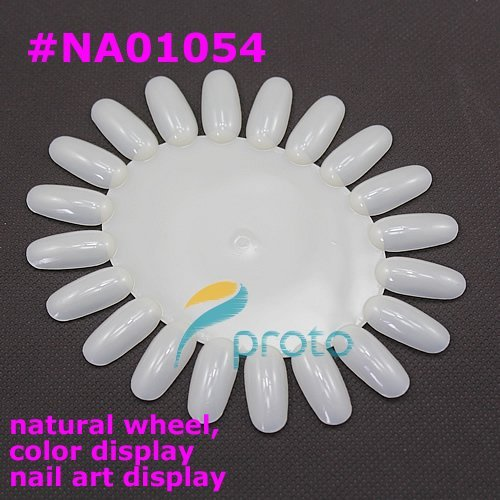 1000pcs/Lot 20 tips/pcs White nail art display wheel Nail Polish Display Plate Wholesales SKU:F0033XX