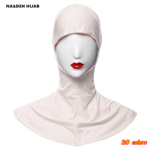 Fashion women inner hijabs modal soft Ninja cap hijab fashion design 20 color islamic under caps good quality breath 10pcs/lot