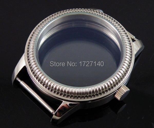 ФОТО Parnis 44mm case Classic Retro steel fit Unitas 6497 6498 movement