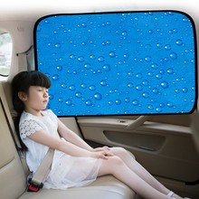 Newest Single Layer Sun Protection Magnetic Car Curtain Magnet Sunshade Water Drop