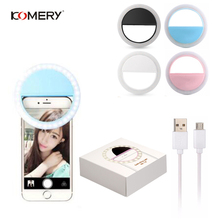 Universal Selfie LED Ring Light Portable Mobile Phone Flash LEDS Luminous Clip For iPhone 6S Plus 7 8 X Samsung