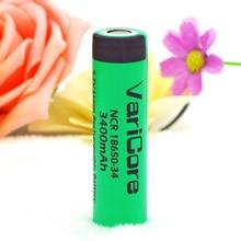 100% New Original VariCore NCR18650-34 3.7 v 3400 mAh 18650 Lithium Rechargeable Battery For  flashlight batteries