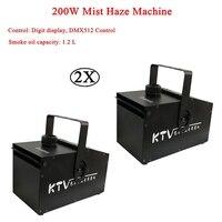 2Pcs/Lot New 200W Mist Haze Machine Hazer Machine with Fog Liquid Water Based Haze Machine DJ Disco Party Stage Effect Machine