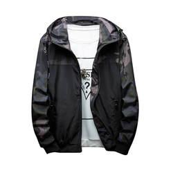 Плюс размеры для мужчин's Осень Зима Тонкий камуфляж куртки с капюшоном Теплый ветрозащитный куртка на молнии Спорт На Открытом Воздухе